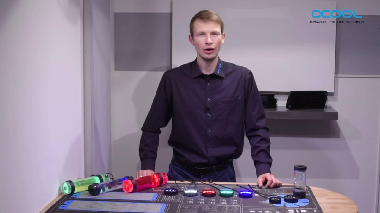 alphacool led  english) Vendor video: Alphacool Aurora LEDs ring - YouTube