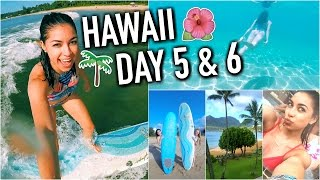 HAWAII - Crazy Hotel Room Tour, Boat Ride, Snorkeling, & Surfing! Day 5 & 6!