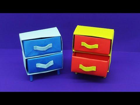 Easy Origami Drawers | How to make Paper Closet | Origami Closet Organizer | DIY Paper Craft