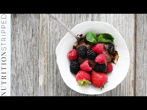 How To Make Dark Chocolate Avocado Mousse | Nutrition Stripped