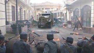 日軍利用裝甲車碾壓國軍,打的對方滿街跑,沒想到被一個國軍戰士抄了後路!