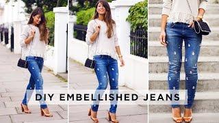 DIY Embellished Jeans Thumbnail