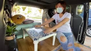 床車改造的藝術,洛杉磯美女自改克萊斯勒Pacifica,生活中有詩和遠方!