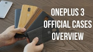 OnePlus 3 official cases overview: Bamboo, Karbon, Black Apricot, Rosewood and Sandstone
