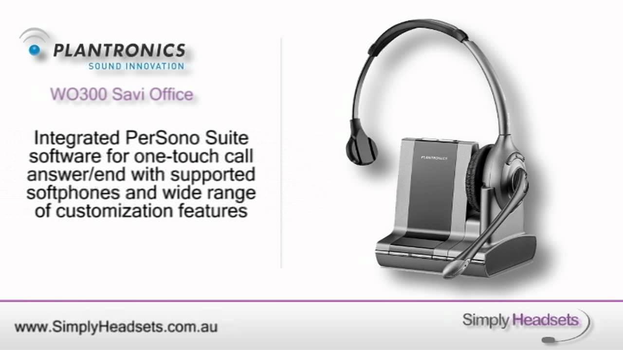 cc1315de773 Plantronics WO300 Savi Office OTH Monaural Wireless Headset Video ...