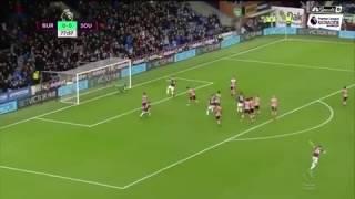 Joey Barton Free-Kick vs Southampton ! Burnley 1 - 0 Southampton 2016/17