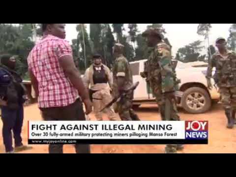 Military officers protect illegal miners in Manso forest despite government's caution