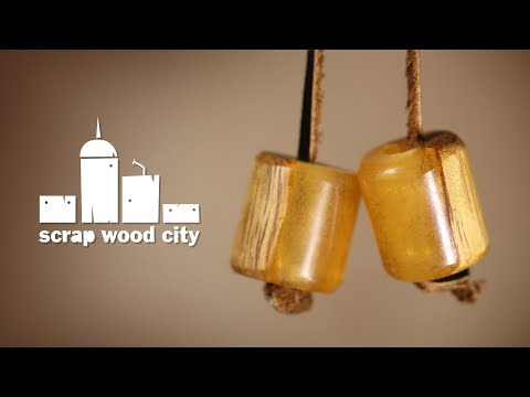 Make a wood and resin begleri - Anti stress juggling toy