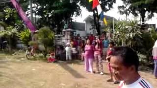 Panjat pinang Agustusan di Dermo Bangil