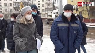 Депутат Госдумы Ирина Белых проверила как в Северном Тушине строится дом по программе реновации