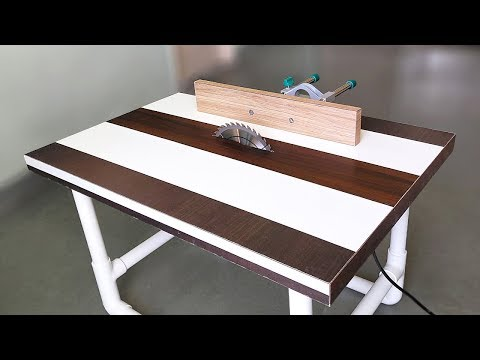 How to Make a Table Saw on PVC pipes at Home