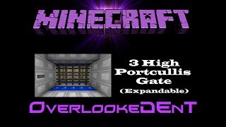 3 High Portcullis Gate (Expandable) - Minecraft Xbox 360/PS3 - [Tutorial]