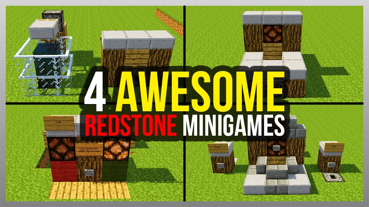 ✔️ 10 AWESOME Minecraft Redstone Minigames! (Tutorials Included)