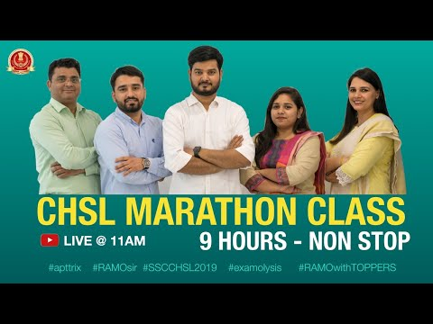 CHSL 19 Marathon Class 9 HRS NONSTOP Practice and Revision