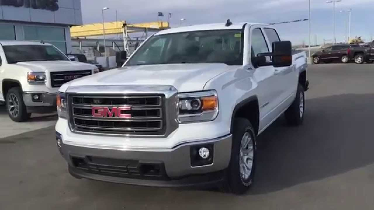 white 2015 gmc sierra sle 1500 4wd crew cab at scougall. Black Bedroom Furniture Sets. Home Design Ideas