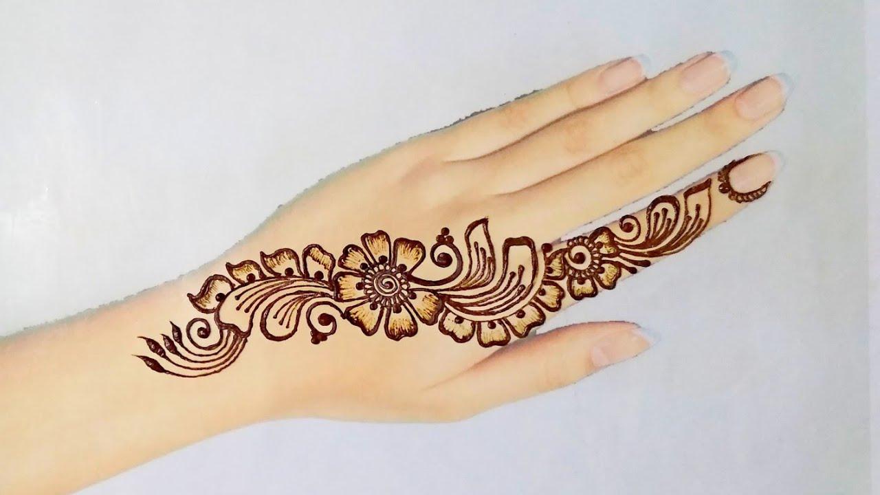 Fancy Mehndi Design: New Simple Arabic Mehndi Design For Hand
