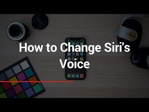 How to Change Siri's Voice