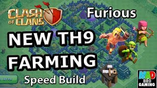 TH9 FARMING Base (Furious) - Clash of Clans Speed Build Town Hall 9 2015