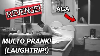 MULTO PRANK ON MY BROTHER! (WATCH TILL THE END!) HAHAHA!