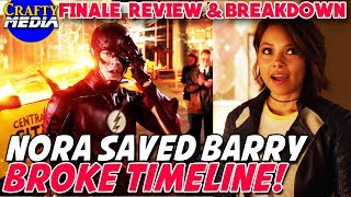 Nora Saved Barry & Broke Time! Comic Origins Explained! The Flash Season 4 Finale Full Review!