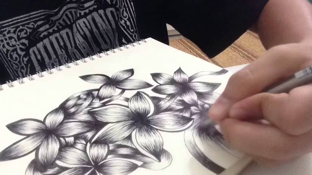 Flower drawing doodle tumblr inspired youtube