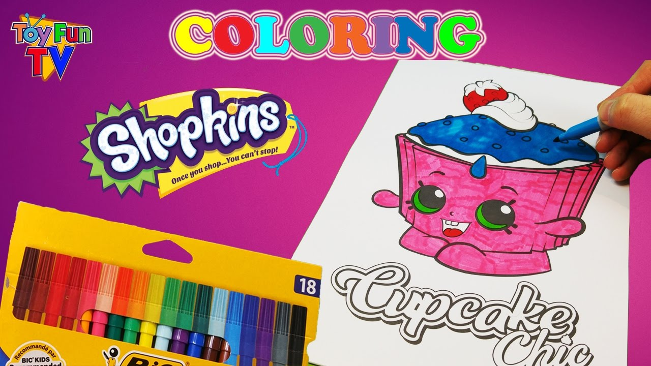 Where to buy shopkins coloring book - Shopkins Coloring Book Coloring In Cupcake Chic Childrens Drawing Toyfuntv