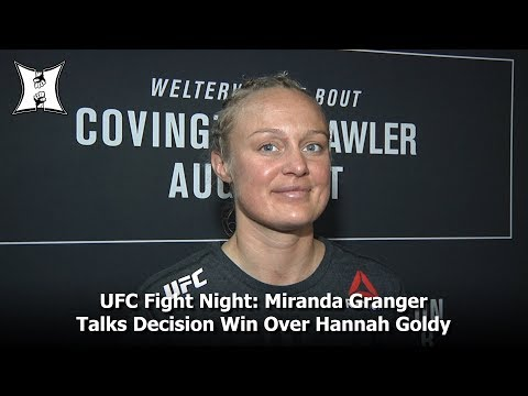 UFC Fight Night: Miranda Granger Talks Decision Win Over Hannah Goldy In Newark, NJ