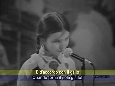 Lo Zecchino d'Oro 1973 - La sveglia birichina - con sottotitoli CC