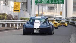【博物館級の名車達!!】日曜日のPAに集まった名車達の加速!!l【1080p/60fps】