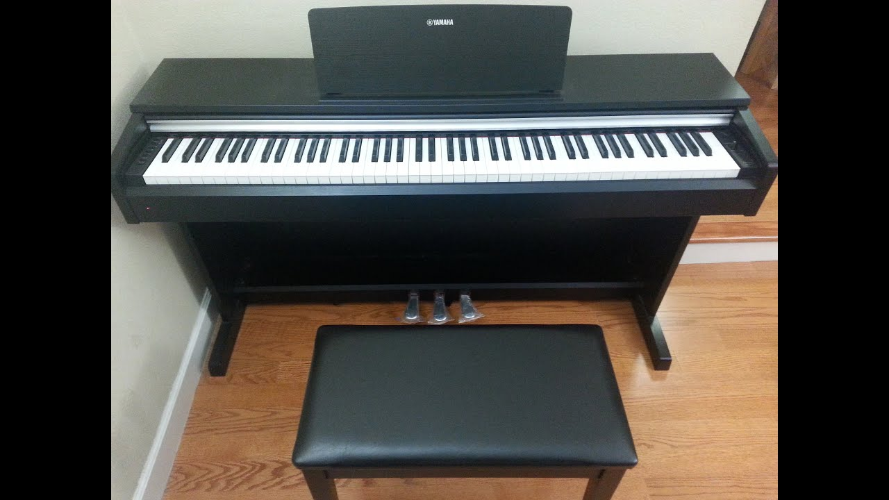 yamaha arius ydp 142 digital piano unboxing and review
