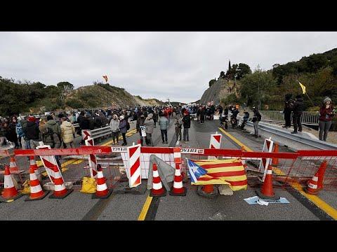 Protesto corta autoestrada na Catalunha