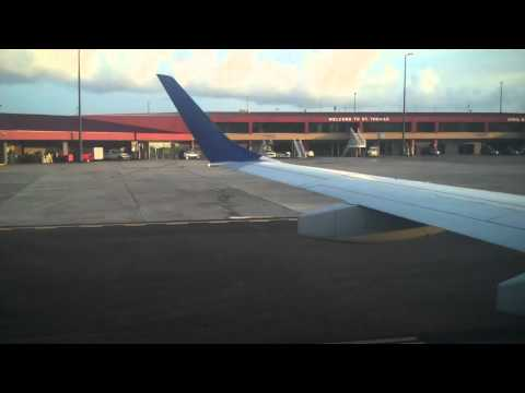 JetBlue arrival at Cyril E King Airport-St.Thomas V.I. August 2012