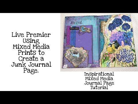 Inspirational Mixed Media Journal Page Tutorial thumbnail