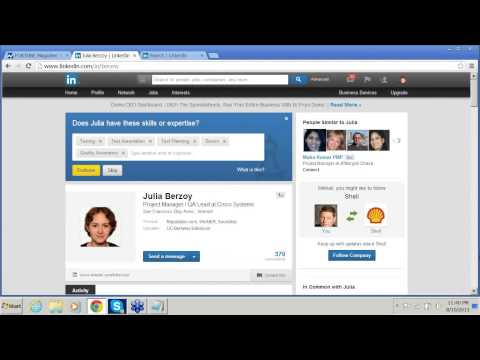 US Job Search  Webinar (H1B, J1) - LinkedIn and how to use it for your professional network