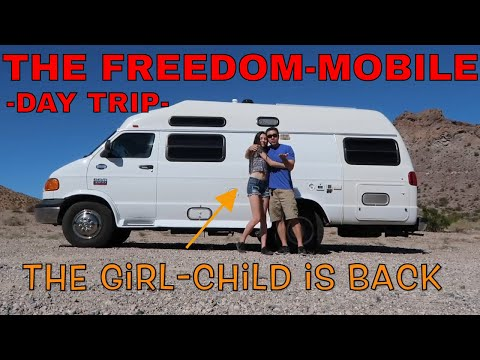The Freedom-Mobile and Girl Child Returns. Nelson's Ghost Town, NV.