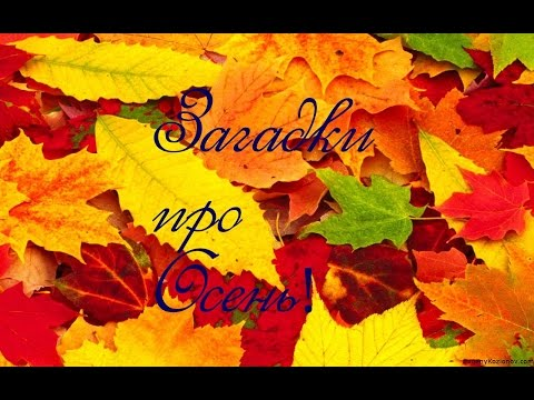 Загадки про осень! Загадки для детей!