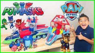 PAW PATROL and PJ MASKS play Hide and Seek!