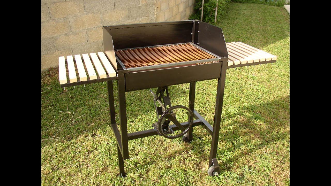 fabrication dun barbecue en mtal  YouTube