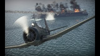 WarThunder  Battle of Midway ミッドウェー海戦 =SFTS= Thach Weave 中途島