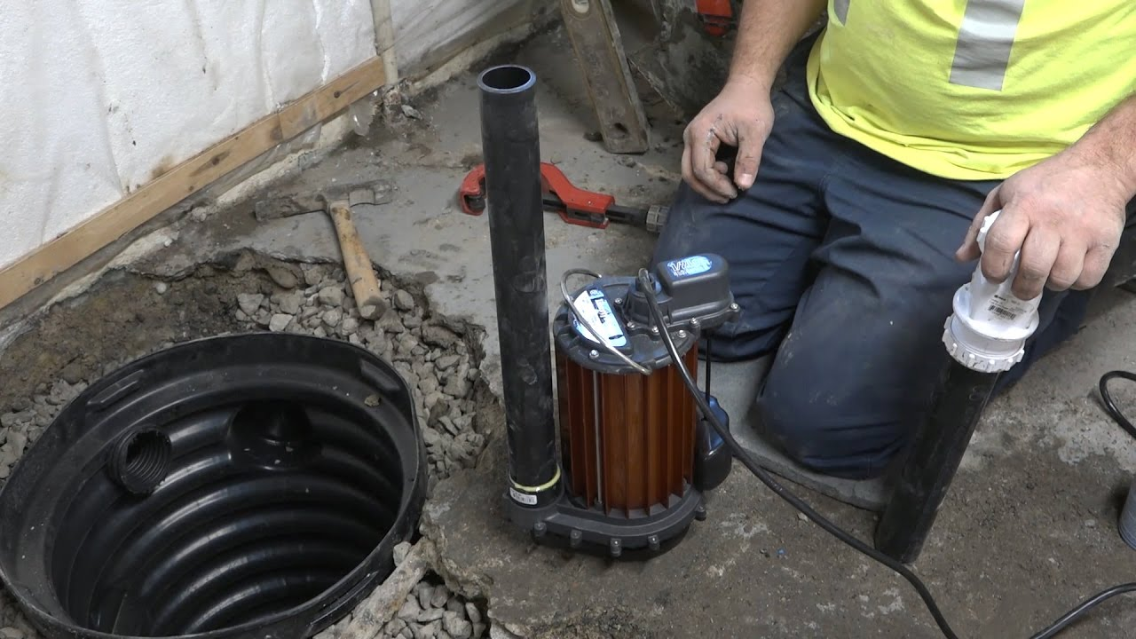 installing a sump pump [ 1280 x 720 Pixel ]