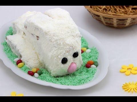 Kokos-Osterhasen Kuchen