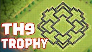 Clash of Clans - TH9 TROPHY BASE CHAMP/TITAN/LEGEND LEAGUE | Town Hall 9 (COC) EPiC Defense Design