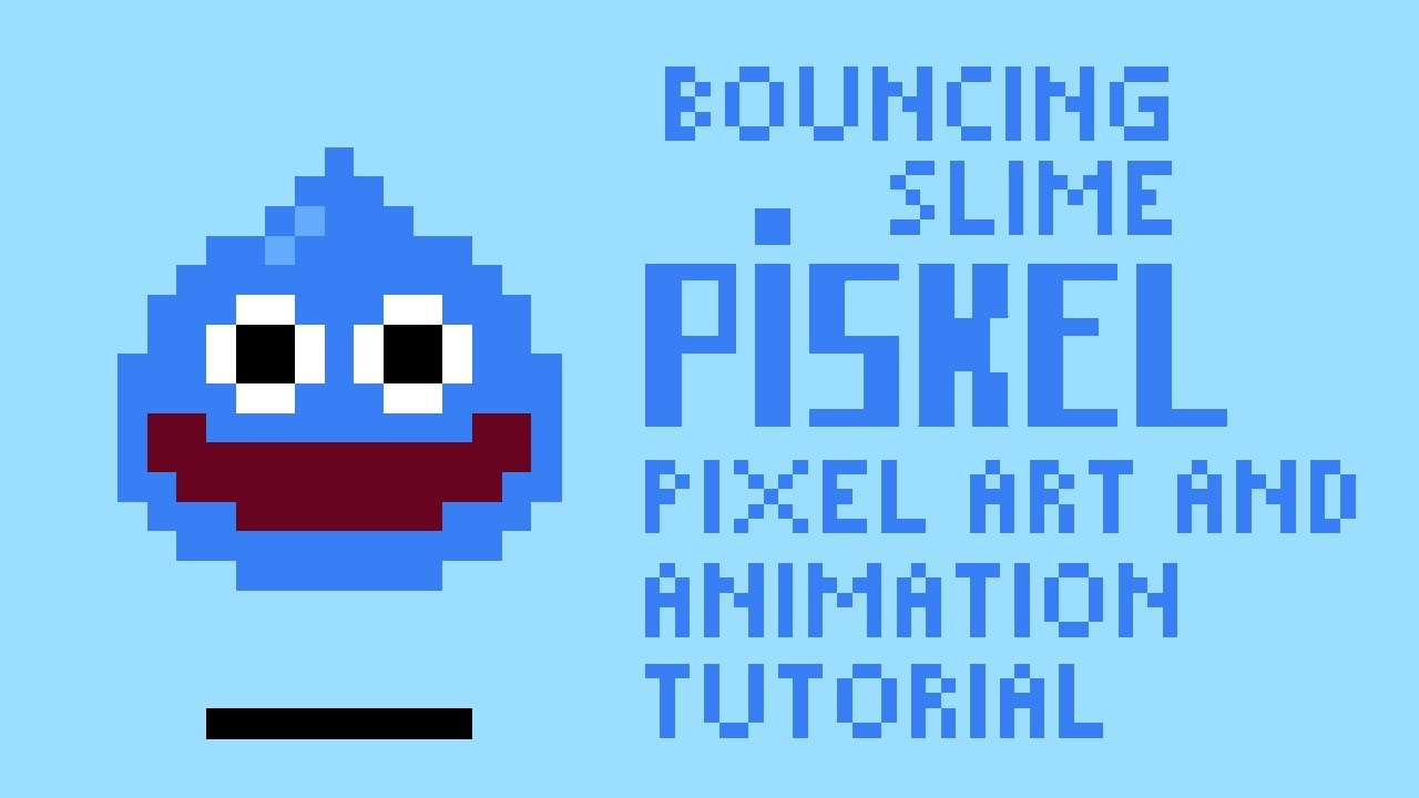bouncing slime piskel pixel art animation tutorial by pxlflx youtube