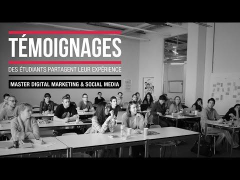 Master Digital Marketing - Témoignages d'étudiants