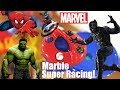 Marble Racing MARVEL Superheroes! The Black Panther, Spider-Man and More! Toy Racing Race #74