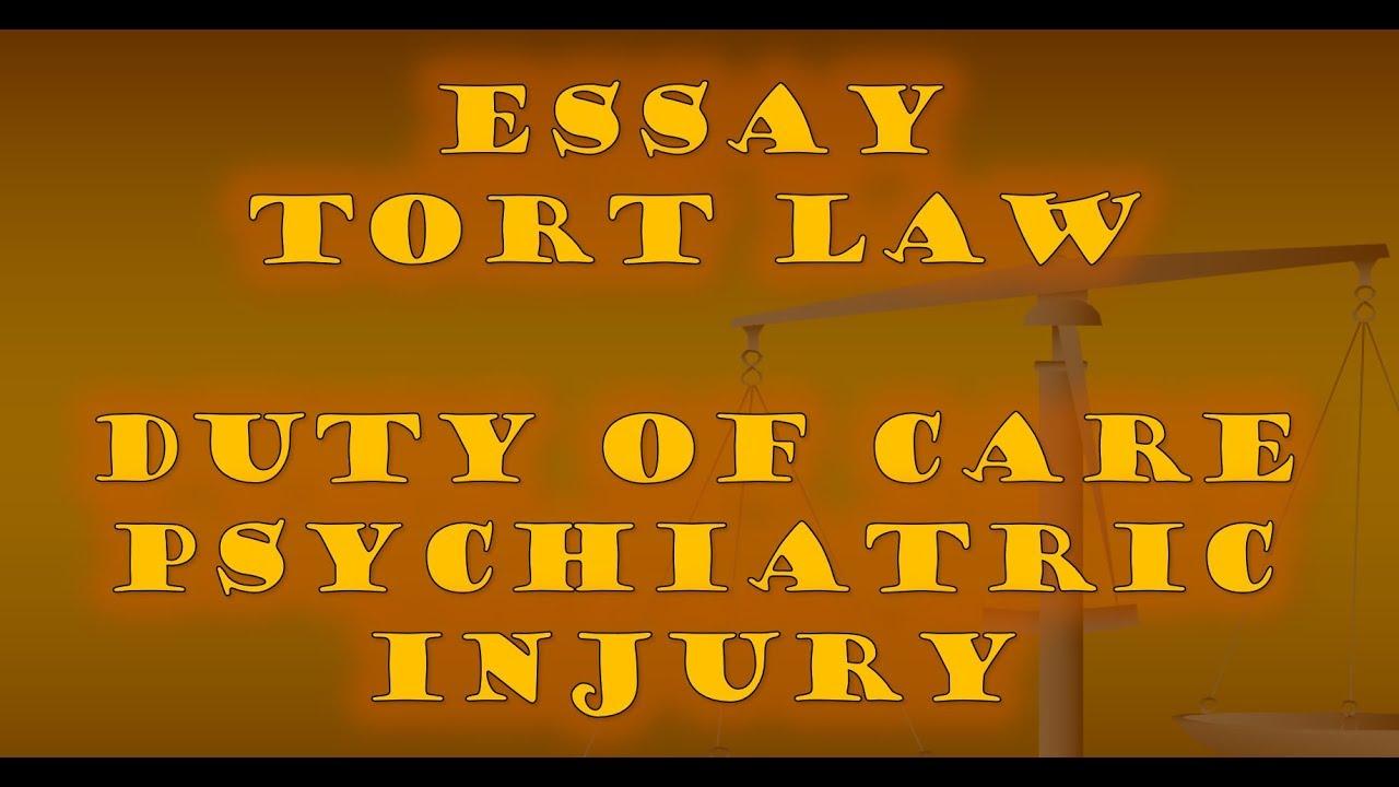 Tort  Psychiatric Injury Part Two Stepbystep Essay Sample  Youtube Tort  Psychiatric Injury Part Two Stepbystep Essay Sample