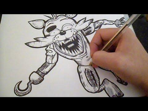 Disegno speed foxy graffiti five nights at freddys for Immagini di clown da colorare