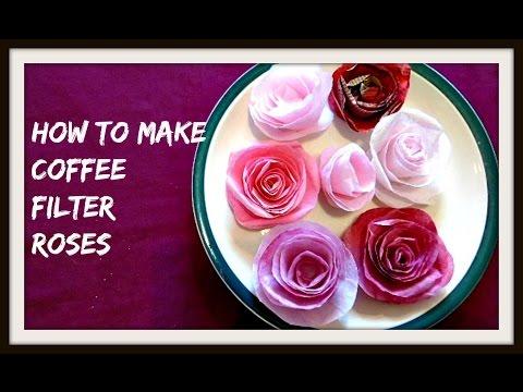 Repeat Diy Beautiful Coffee Filter Flower Paper Art Paper Crafts