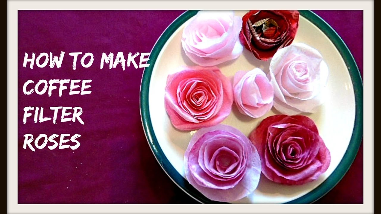 Paper flowers how to make coffee filter paper roses diy paper paper flowers how to make coffee filter paper roses diy paper flowers rolled roses mightylinksfo Images