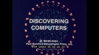 "1982 COMPUTER TECHNOLOGY FILM  ""DISCOVERING COMPUTERS""   EARLY PERSONAL COMPUTERS 59054"